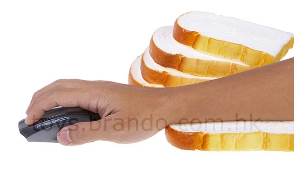White bread wrist rest is non-organic yet ergonomic