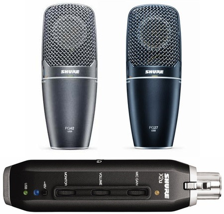 Shure PG27USB, PG42USB and X2u