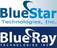 BlueStar and BlueRay logos 