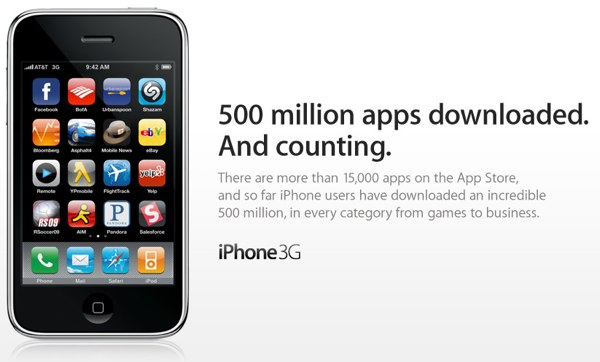 App Store Hits 500 Million Downloads Thanks Ifart