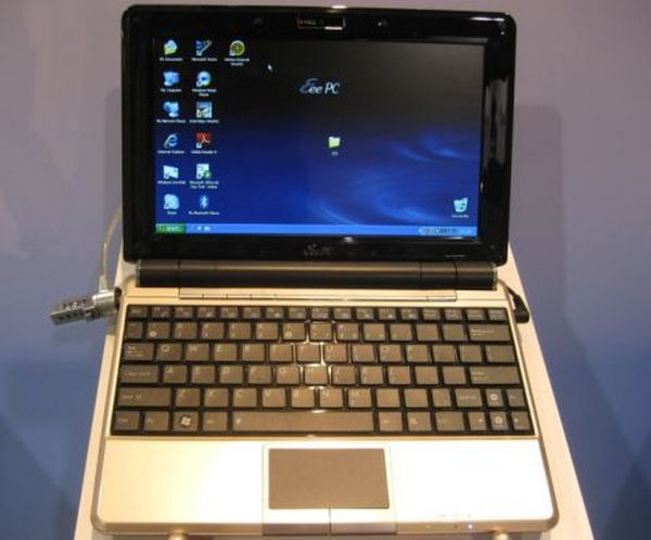 Asus's Eee PC 1000HE pulls the shift key in from right-field