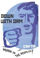 Down with DRM logo