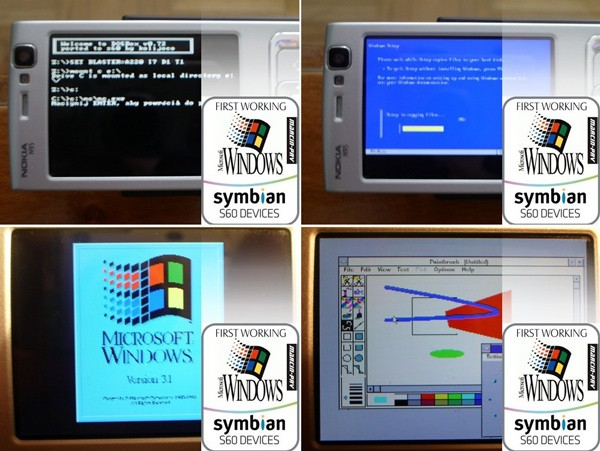 n95 windows 3.1 Windows 3.1 running on Nokia N95 is both awesome and depressing