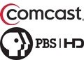 Comcast and PBS HD logos