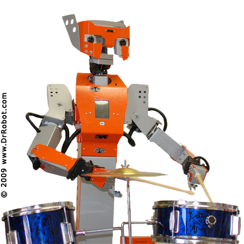 Drummer Robot - Run for your lives!