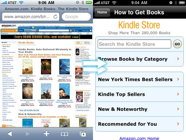 amazon s kindle store and cloud reader optimized for ipad
