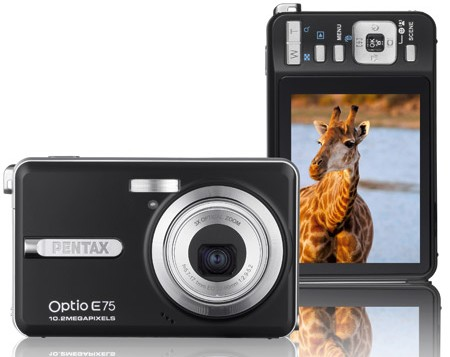 Pentax Optio E75 compact is perfect for capturing giraffes in the air or water