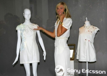 Maria Sharapova models Bluetooth-enabled Sony Ericsson prototype dress :  cool dress maria sharapova concept