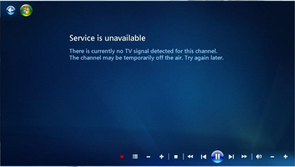 DTV Service is unavailable