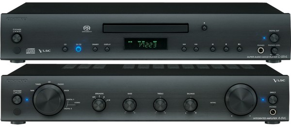Onkyo C-S5VL SACD player, A-5VL integrated amplifier