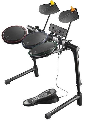 Logitech ups the skins ante with the Guitar Hero Wireless Drum Controller