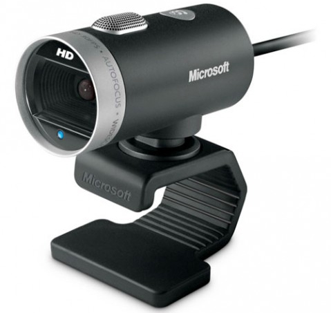 ... Microsoft's unveiled the LifeCam Cinema HD webcam.
