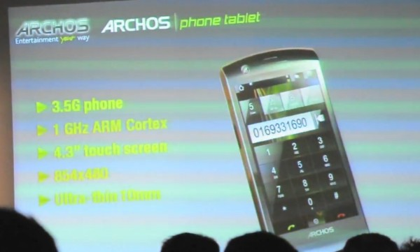 archos phone tablet