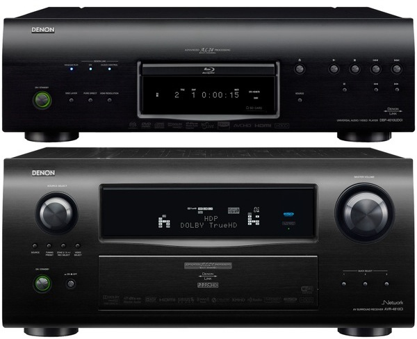 Denon AVR-4810CI receiver and DBP-4010UDCI universal Blu-ray player