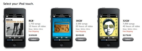ipod touch new pricing Preço dos iPods Touchs caem antes de evento