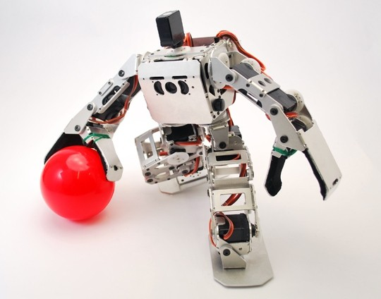 Vstone's tiny Robovie-NANO robot drives the lane, jumps, shoots, scores retail availability