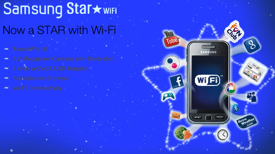 samsung 39 s s5230 star gets a wifi makeover. Black Bedroom Furniture Sets. Home Design Ideas