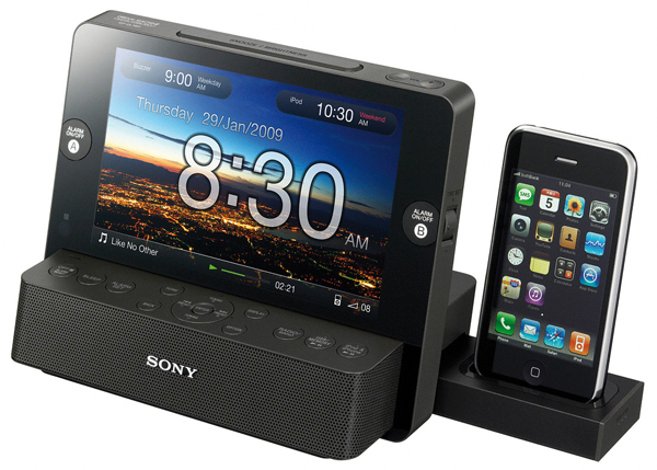 sony icf cl75ip alarm clock digital frame ipod dock a surprisingly attrac. Black Bedroom Furniture Sets. Home Design Ideas