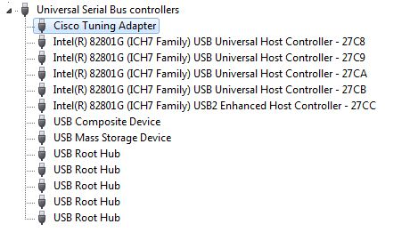 Cisco Tuning Adapter in Device Manager