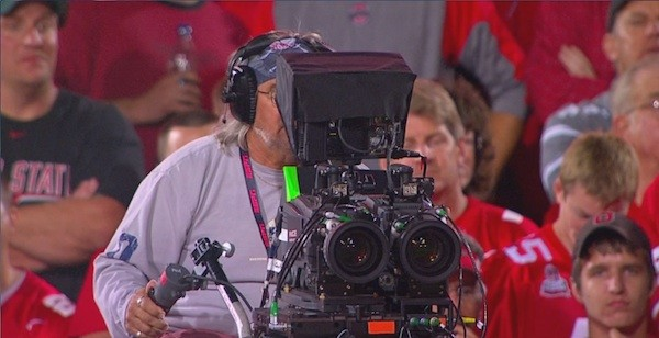3D camera at a football game