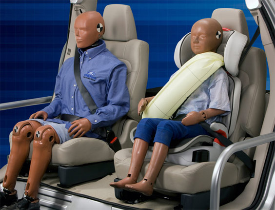 Ford's inflatable seat belts