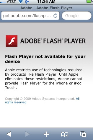 adobe flash for iphone