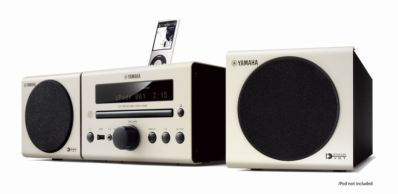 Yamaha's yAired-equipped MCR-140 micro stereo wirelessly talks to iPods and