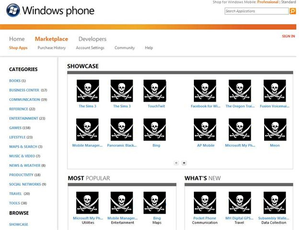 windows phone pirate rm eng Windows Marketplaces newest anti piracy measures already thwarted