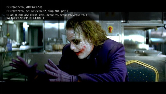The Dark Knight playing in 1080p on the Apple TV