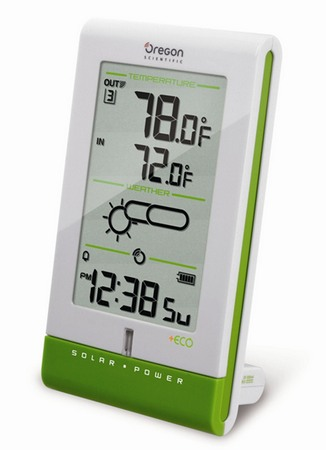 Oregon Scientific expands solar-powered +ECO line with Solar Weather Clock and Station