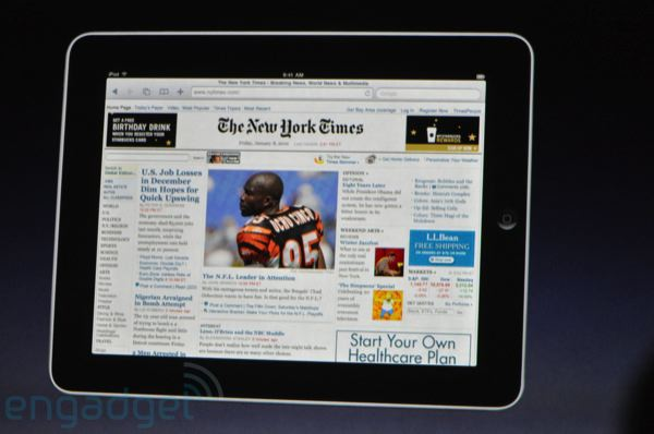 ipad web page landscape widescreen