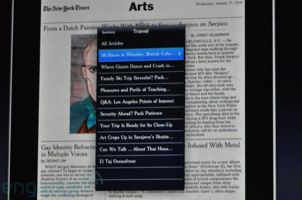 New York Times on the iPad