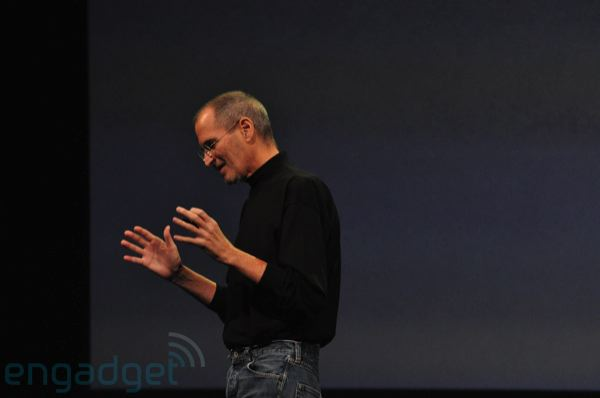 Steve Jobs at WWDC 2010 sourced from endgadget