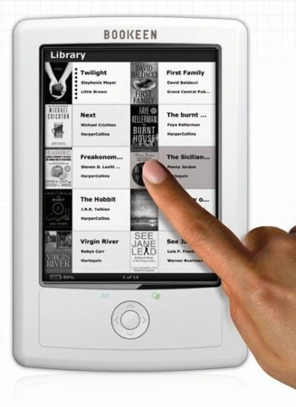 Bookeen debuts Orizon touchscreen e-book reader