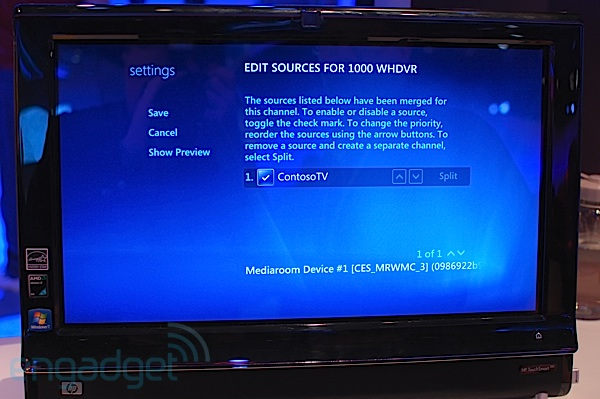 Windows Media Center using Mediaroom 2.0