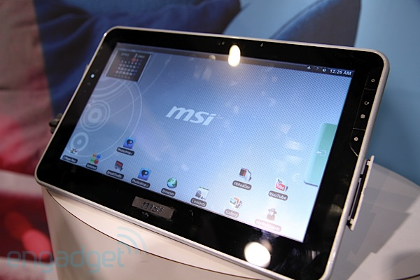 MSI's 10-inch tablet launching this year at $500, patently ignoring elephant in the room?