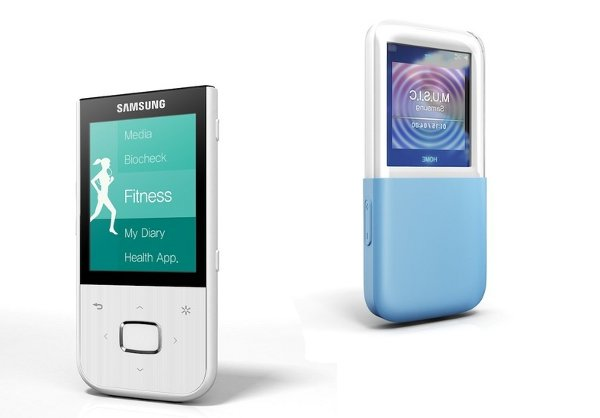 Samsung announces two PMPs, one for fitness gurus, one made of glass