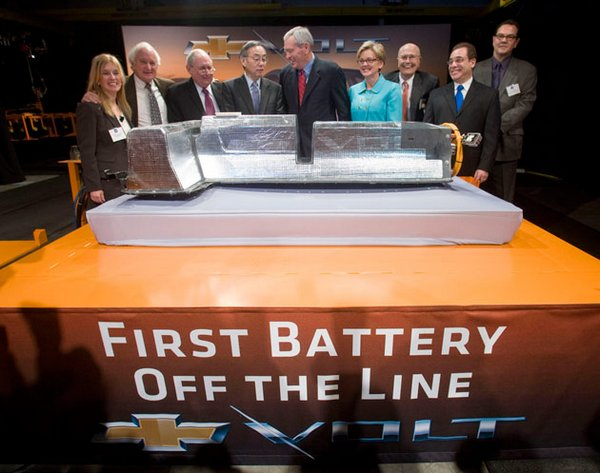 First Chevrolet Volt battery rolls off the assembly line, wonders where its car is
