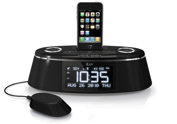 iluv rolls out imm178 vibe plus ipod dock with built in 39 bed shaker 39. Black Bedroom Furniture Sets. Home Design Ideas