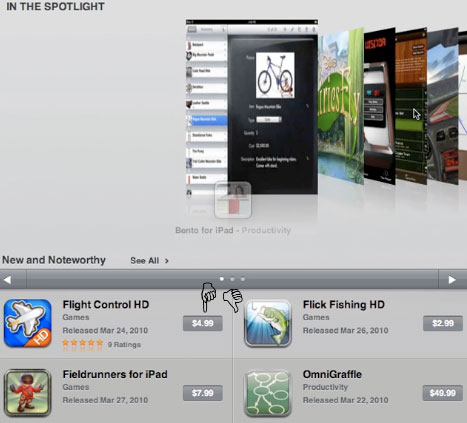 premium ipad apps like the iPod touch, only bigger (updated)