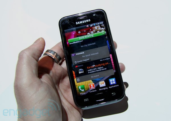 Samsung's Galaxy S has four times the polygon power of Snapdragon