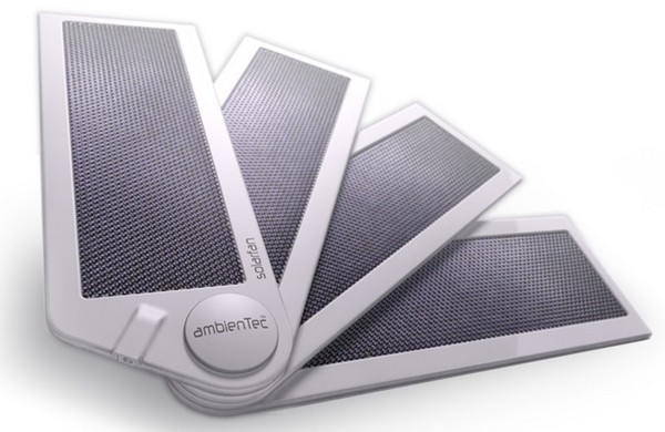 AmbienTec's SolarFold and SolarFan charge your gadgets, are now available without perscription (video)