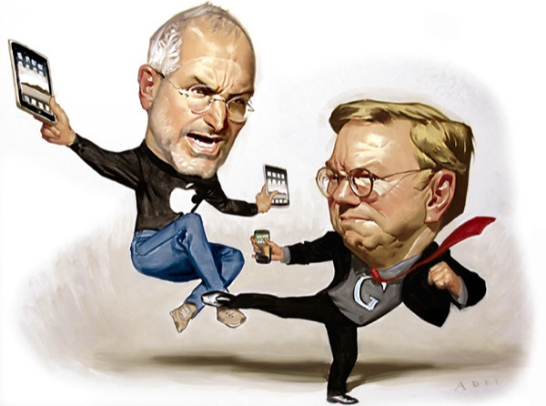 Apple vs. Google gets personal: 'Steve Jobs simply hates Eric Schmidt' (video)