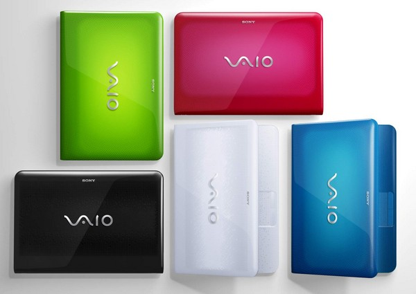 Sony's new 14- and 17-inch VAIO E laptops invite you to taste the rainbow