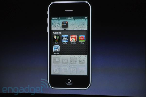 iPhone OS 4 - Dossiers