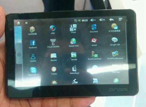 Onda's Vi10 Android touchscreen PMP sports Rockchip internals, 3G wireless