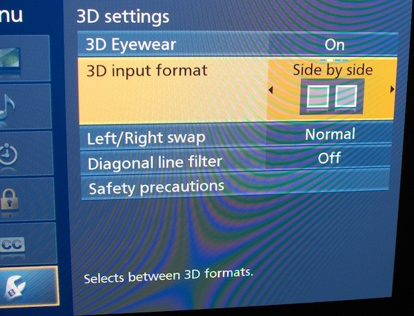 The Masters in 3D will require you to manually select side by side