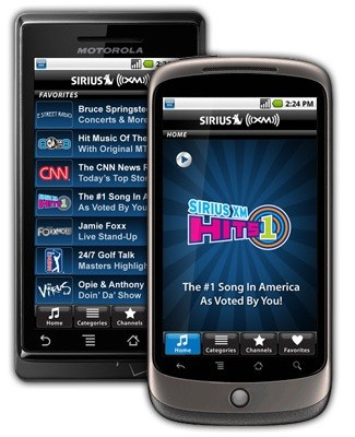 Sirius XM app for Android 'coming soon'