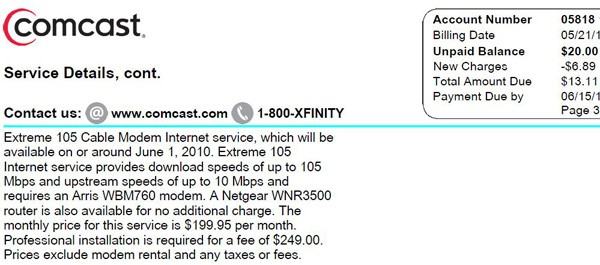 Comcast Extreme 105Mbps Broadband Solutions
