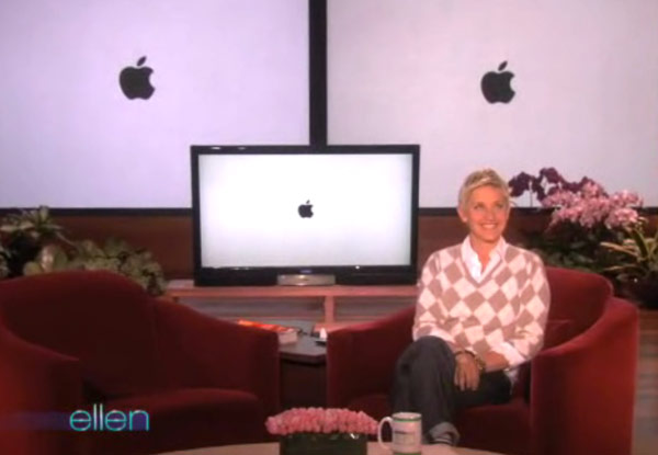 Ellen pokes fun at Apple… and then apologizes